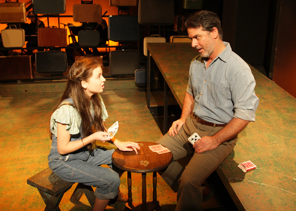 Rebeka Hoblik as Young Violet and Johnny Fletcher as Father Photo