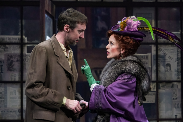 Christopher McLinden (Henning) and Kirsten Potter (Helga) in Seattle Repertory Theatr Photo
