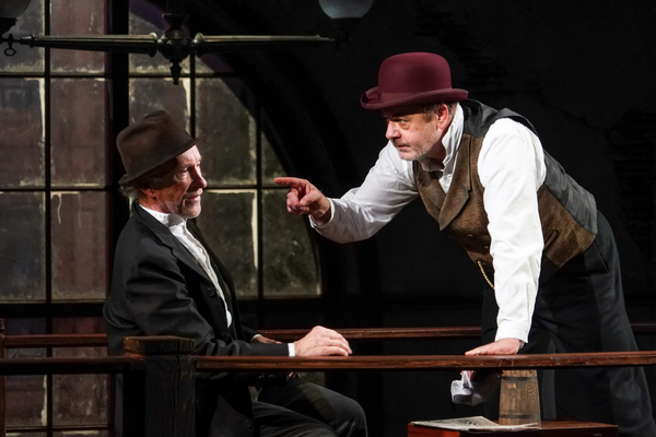 R. Hamilton Wright (Per) and Allen Fitzpatrick (Pekka) in Seattle Repertory Theatre's Ibsen in Chicago. Photo by Alan Alabastro.