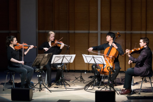 Face the Music Maya Fortune, Mary Grace Johnson, Sam Boyce, Gabo Lewis Photo: David Andrako