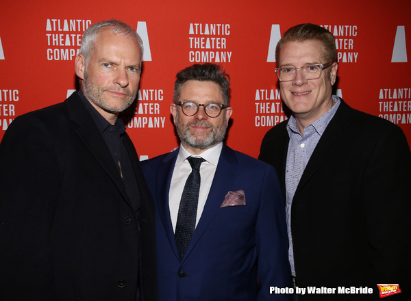 Playwright Martin McDonagh, director Matthew Dunster and managing director Jeffory Lawson