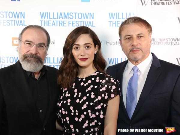 Mandy Patinkin, Emmy Rossum and Gary Levine