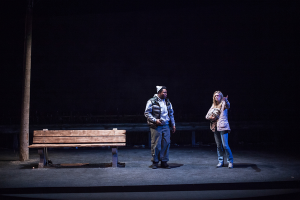 """Marcel Spears and Marin Ireland star in """"Ironbound"""" at the Geffen Playhouse. Photo by Photo"""