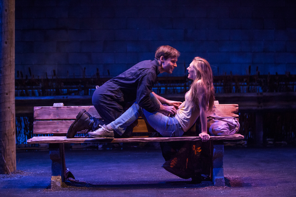 """Josiah Bania and Marin Ireland star in """"Ironbound"""" at the Geffen Playhouse. Photo by Chris Whitaker."""
