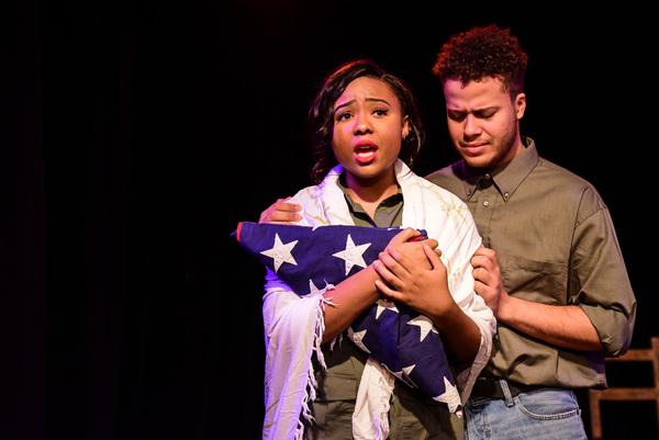 Caitlin Dobbins and Luke Halpern in LIBERATORS: AN AMERICAN MUSICAL