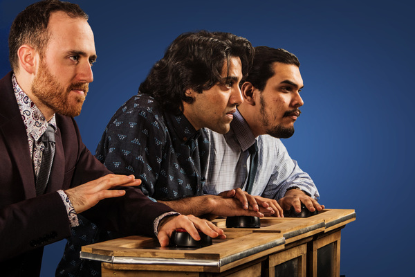 Pictured (from left): Ali Andre Ali, Imran Sheikh,* Andrew Aaron Valdez. Photo by Steve Wagner. *Actor appears courtesy of Actors' Equity Association, the Union of Professional Actors and Stage Managers in the United States.