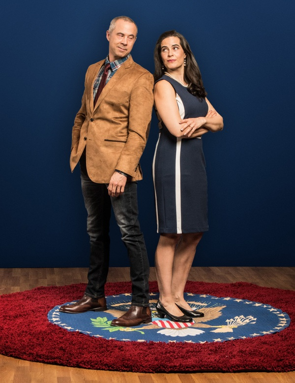 Pictured (from left): Jens Rasmussen,* Leila Buck.* Photo by Steve Wagner. *Actor app Photo