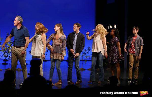 Michael Park, Jennifer Laura Thompson, Laura Dreyfuss, Rachel Bay Jones, Kristolyn Lloyd and Ben Levi Ross with Taylor Trench