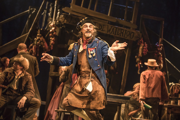 J Anthony Crane as 'Thénardier' in the national tour of LES MISÉRABLES. Photo by Matthew Murphy.