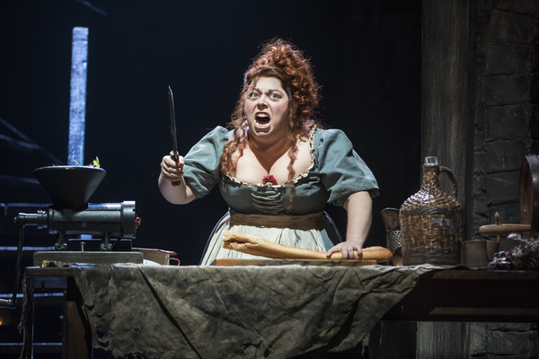 Allison Guinn as 'Madame Thénardier' in the national tour of LES MISÉRABLES. Photo by Matthew Murphy.
