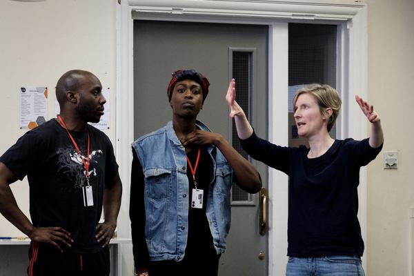 Chris Jack, Gloria Onitiri and director Esther Richardson