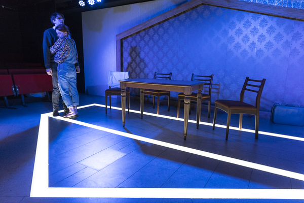 Production photos of AGAIN, written by Stephanie Jacob. Trafalgar Studio 2.  Photo by Zute Lightfoot