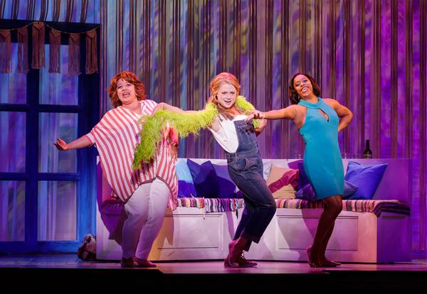"Sarah Rudinoff as Rosie, Kendra Kassebaum as Donna and Lisa Estridge as Tanya perform ""Dancing Queen"""