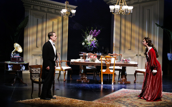 he Maltz Jupiter Theatre's sold out production of the psychological thriller An Inspector Calls is onstage through February 18. Pictured are Jeremy Webb and Charlotte Bydwell. Photo by Zak Bennett.