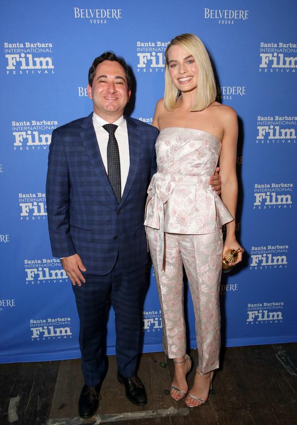 Scott Feinberg and Margot Robbie