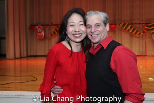 Lainie Sakakura, with her husband, Alex Sanchez