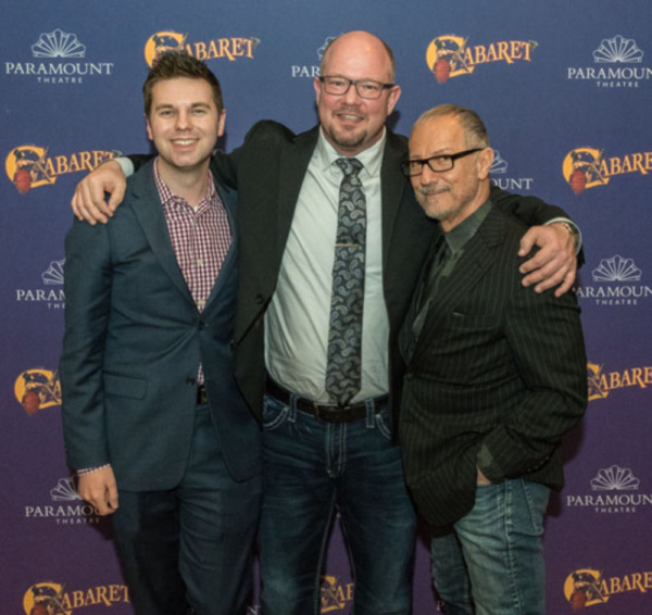 Paramount Theatre Casting Director and Artistic Associate Trent Stork, President and CEO Tim Rater and Artistic Director Jim Corti