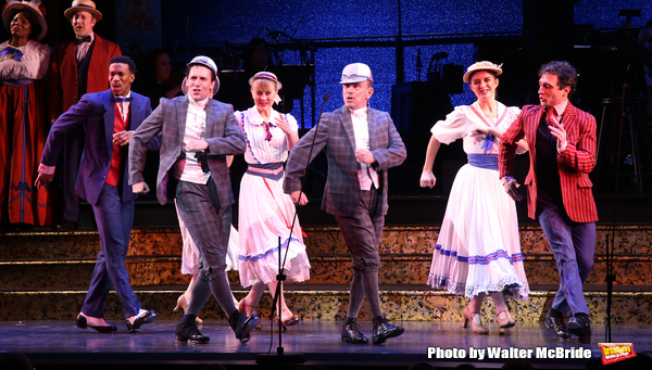 Clyde Alves and Joel Grey with cast