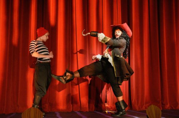 Captain Hook (McLeod Buckham White) and Smee (Joe Sear) plot in Hook's Tarantella.