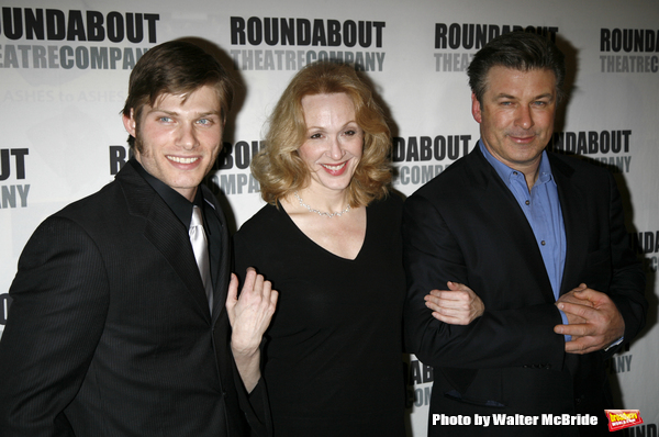 Chris Carmack, Jan Maxwell and Alec Baldwin.Attending the Opening Night Party for The Roundabout Theatre Company's Production of  ENTERTAINING MR. SLOANE at the Laura Pels Theatre in New York City..March 16, 2006.
