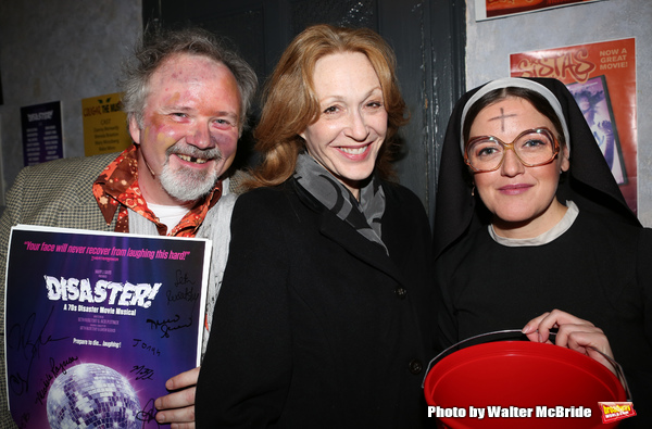 Tom Riis Farrell, Jan Maxwell and Jennifer Simard attend the Off-Broadway Opening Night Performance for 'Disaster!' at the St. Luke's Theatre on November 4, 2013  in New York City.
