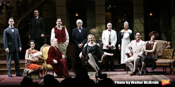 """Ensemble cast featuring: Reg Rogers, Tony Roberts, Rosemary Harris, Jan Maxwell & Kelli Barrett during the Manhattan Theatre Club's Productions Opening Night Curtain Call  for """"The Royal Family"""" at the Samuel J. Friedman Theatre in New York City. October"""