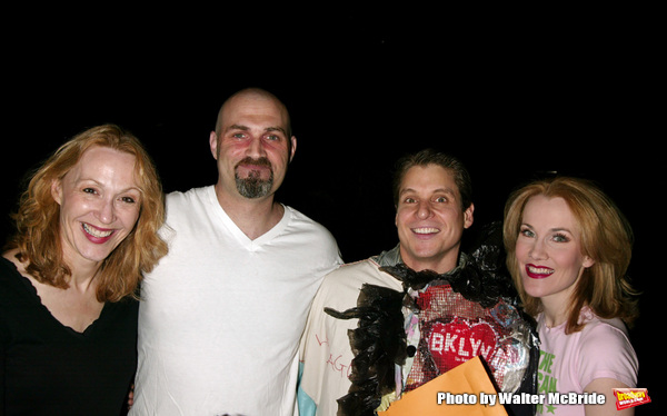 Jan Maxwell, Marc Kudisch, Erin Dilly and Alex Sanchez ( Gypsy winner for CHITTY CHIT Photo