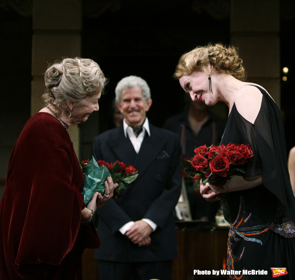Rosemary Harris, Tony Roberts & Jan Maxwell during the Manhattan Theatre Club's Produ Photo