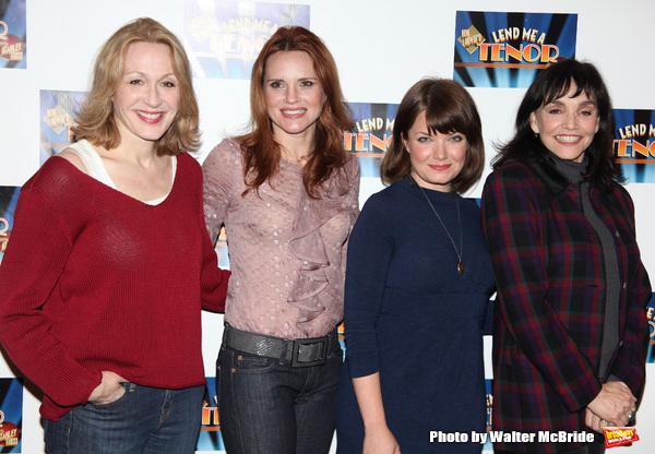 """Jan Maxwell, Mary Catherine Garrison, Jennifer Laura Thompson, Brooke Adams attending the Meet & Greet for """"Lend Me A Tenor"""" at the New 42nd Street Studios in New York City. February 25, 2010"""