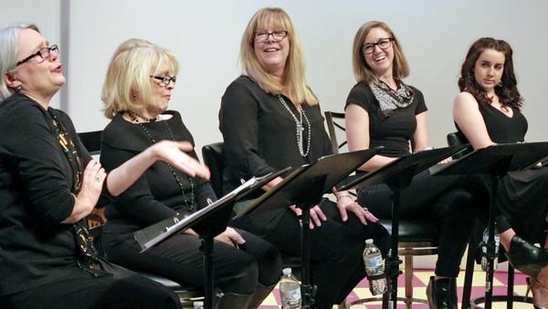 (L to R) Amy Roche, Lynne McGhee, Eva Matteson (Coast 93.1 Radio), Casey Turner, Hannah Daly.