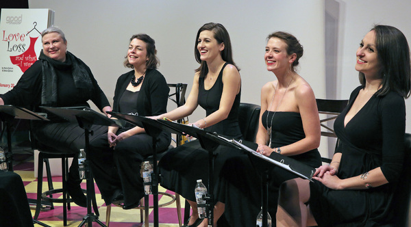 Mad Horse Theatre with special guest Jennifer Long (WGME News).  (L to R): Christine Marshall, Janice Gardner, Jennifer Long, Marie Stewart Harmon, Allison McCall