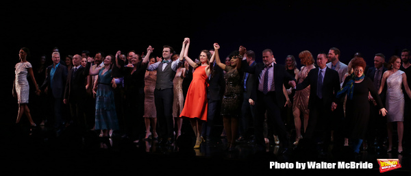 Frances Jue, Megan McGinnis, Harriet Harris, Gavin Creel, Sutton Foster, Sheryl Lee Ralph, Marc Kudisch, Darren Lee and Anne L. Nathan