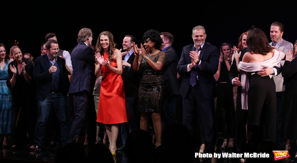 Megan McGinnis, Harriet Harris, Gavin Creel, Rob Ashford, Dick Scanlan, Jeanine Tesori, Sutton Foster, Sheryl Lee Ralph, Marc Kudisch