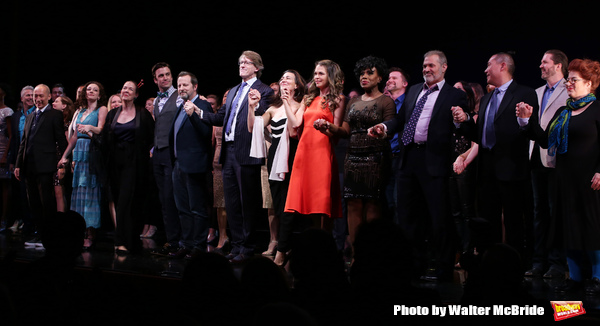 Francis Jue, Megan McGinnis, Harriet Harris, Gavin Creel, Rob Ashford, Dick Scanlan, Jeanine Tesori, Sutton Foster, Sheryl Lee Ralph, Marc Kudisch, Darren Lee and Anne L. Nathan