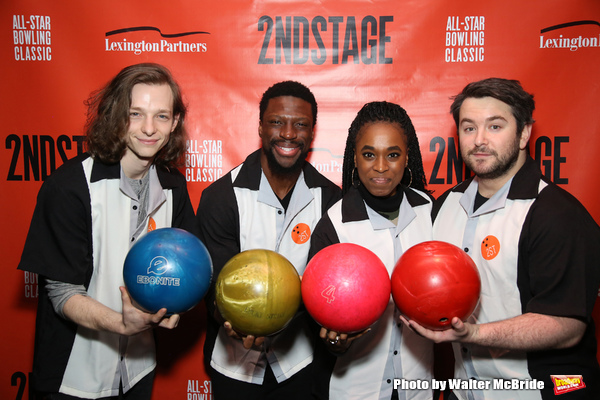 Mike Faist, Michael Luwoye, Kristolyn Lloyd and Alex Brightman