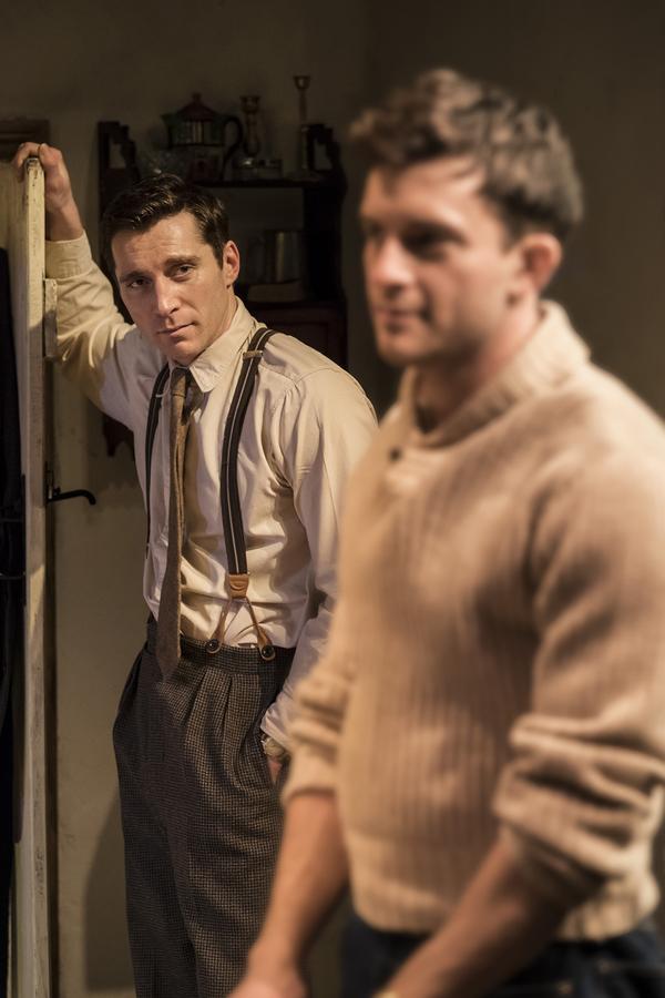 Ben Batt (George) and Jonathan Bailey (John)