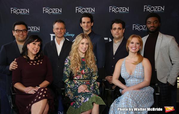 Robert Lopez, Kristen Anderson-Lopez, Michael Grandage, Caissie Levy, John Riddle, Greg Hildreth, Patti Murin and Jelani Alladin