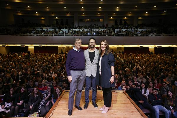 Photo Flash: Lin-Manuel Miranda Joins Bill and Melinda Gates for Conversation at Hunter College
