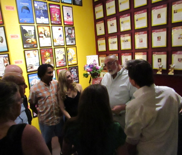 CVRep Artistic Director, Ron Celona, production staff and the cast were all thrilled to have Barry Harman see their work and grateful that he took the time to meet with them in the lobby after the sho