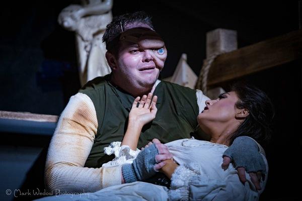Zach Gibson as Quasimodo, Rachelle Kates as Esmeralda