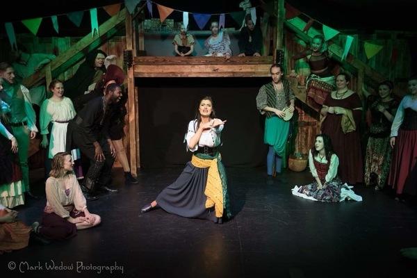 Rachelle Kates as Esmeralda performing Rhythm Of The Tambourine