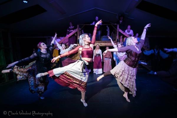 Featured dancers Kali Libby, Nickel Hays, Lexii Gravis