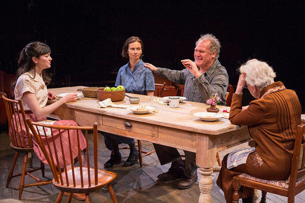 """(from left) Celeste Arias as Eléna, Yvonne Woods as Sónya, Jay O. Sanders as Ványa, and Roberta Maxwell as Márya in Uncle Vanya, translated by Richard Pevear and Larissa Volokhonsky, directed and translated by Richard Nelson, running February 10 â€"""" M"""