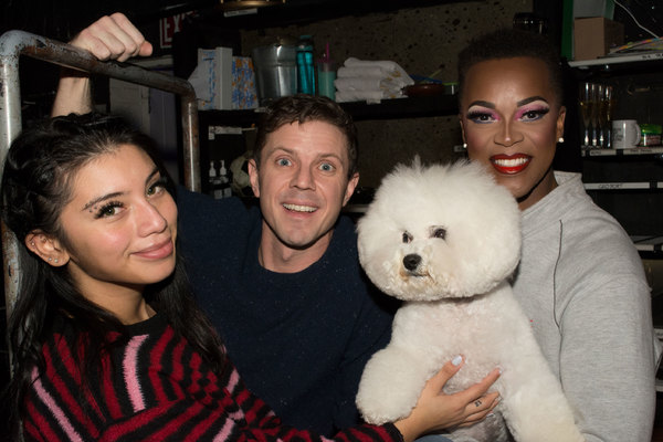 Kirstin Maldonado, Jake Shears and J. Harrison Ghee and Flynn. Photo by Dean Jones.