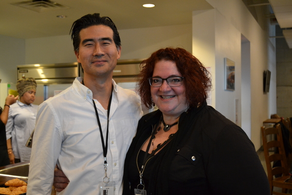 Ryun Yu (Gordon Hirabayashi) and Director Jessica Kubzansky