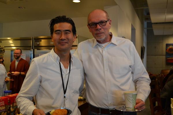 Ryun Yu (Gordon Hirabayashi) and Executive Director Edgar Dobie Photo