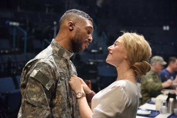 Jude Sandy as Othello and Rebecca Gibel as Desdemona