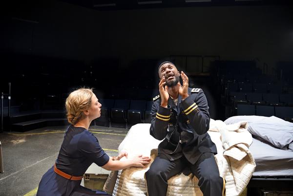 Rebecca Gibel as Desdemona and Jude Sandy as Othello