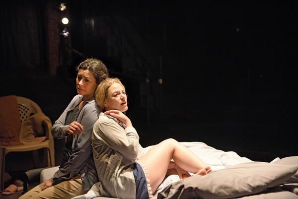 Angela Brazil as Emilia and Rebecca Gibel as Desdemona
