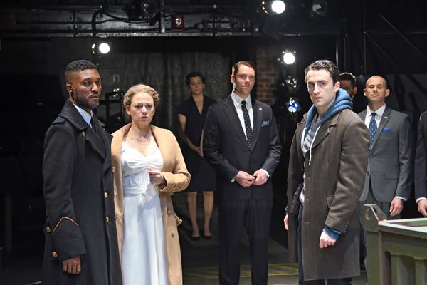 Jude Sandy as Othello, Rebecca Gibel as Desdemona, Angela Brazil as Emilia, Brendan D. Hickey as Ensemble, Charlie Thurston as Cassio and Daniel Duque- Estrada as Lodovico
